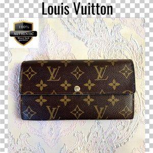 Louis Vuitton wallet long portefeuille sarah brown
